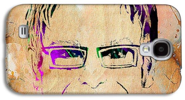 Elton John Galaxy S4 Cases - Elton John Collection Galaxy S4 Case by Marvin Blaine