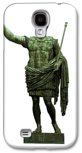 Cut Outs Galaxy S4 Cases - Emperor Caesar Augustus Galaxy S4 Case by Fabrizio Troiani