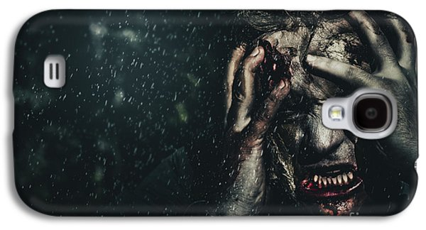 Evil Zombie Man In Fear At Dark Haunted Forest Galaxy S4 Case by Jorgo Photography - Wall Art Gallery