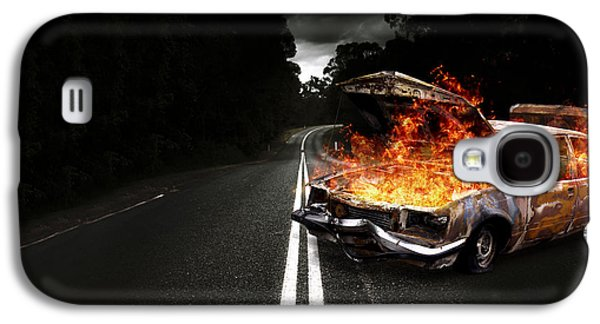 Terrorist Galaxy S4 Cases - Explosive Car Bomb Galaxy S4 Case by Ryan Jorgensen