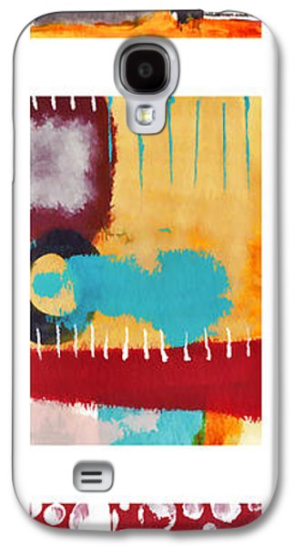 Colorful Abstract Galaxy S4 Cases - Exuberance No. 2 Galaxy S4 Case by Carol Leigh