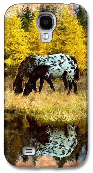 Bison Digital Art Galaxy S4 Cases - Fall Reflections Galaxy S4 Case by Roger D Hale