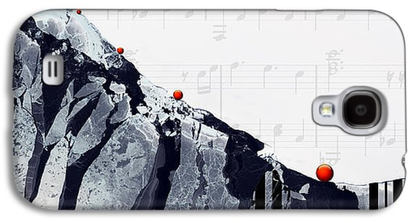Pianist Photographs Galaxy S4 Cases - Fantasia - Piano Art By Sharon Cummings Galaxy S4 Case by Sharon Cummings