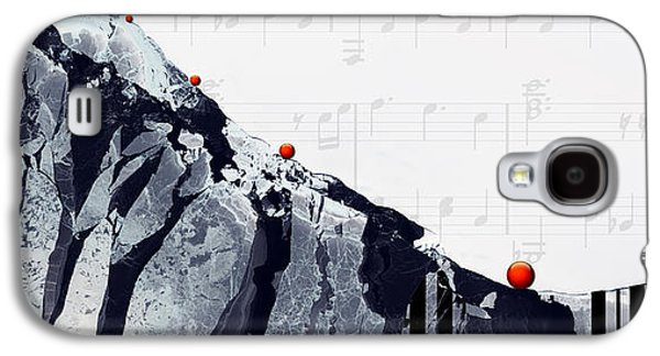 Lounge Paintings Galaxy S4 Cases - Fantasia - Piano Art By Sharon Cummings Galaxy S4 Case by Sharon Cummings