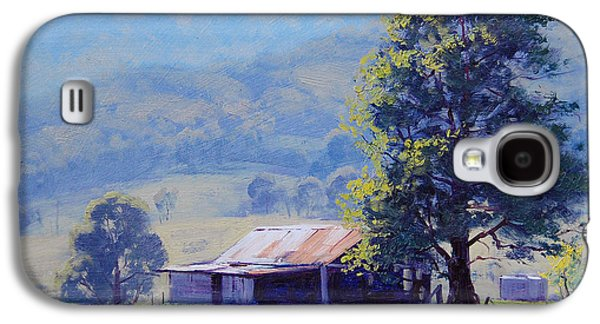Shed Paintings Galaxy S4 Cases - Farm Shed Galaxy S4 Case by Graham Gercken