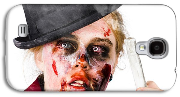 Ghastly Galaxy S4 Cases - Fearful zombie woman holding blown out candle Galaxy S4 Case by Ryan Jorgensen