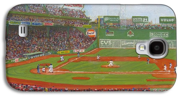 Red Sox Paintings Galaxy S4 Cases - Fenway Park Galaxy S4 Case by Claire Norris