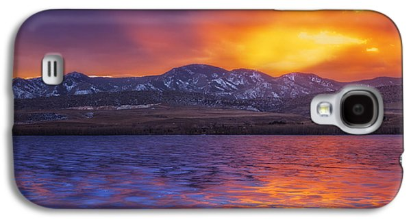 Sunset Greeting Cards Galaxy S4 Cases - Fire and Ice Galaxy S4 Case by Darren  White