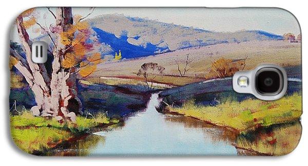 Beautiful Creek Paintings Galaxy S4 Cases - Fish River tarana Galaxy S4 Case by Graham Gercken