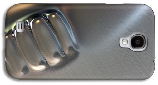 Fury Digital Art Galaxy S4 Cases - Fist Punched Metal Galaxy S4 Case by Allan Swart