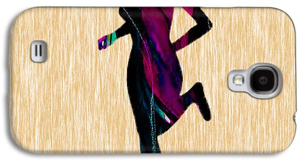 Ball Galaxy S4 Cases - Fitness Runner Galaxy S4 Case by Marvin Blaine