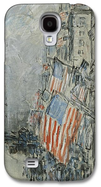 4th July Paintings Galaxy S4 Cases - Flag Day. Fifth Avenue. July 4th 1916 Galaxy S4 Case by Celestial Images