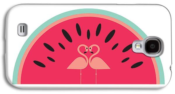 Flamingo Watermelon Galaxy S4 Case by Susan Claire