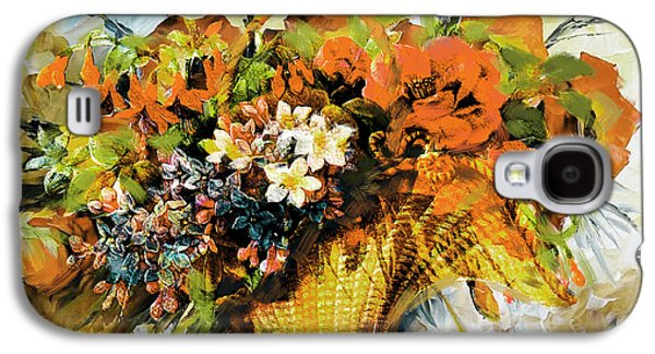 Vase Of Flowers Galaxy S4 Cases - Floral 10 Galaxy S4 Case by Mahnoor Shah