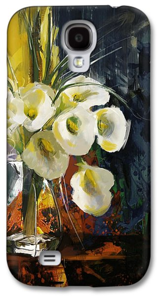 Vase Of Flowers Galaxy S4 Cases - Floral 6 Galaxy S4 Case by Mahnoor Shah