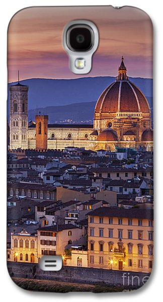 Tuscan Sunset Galaxy S4 Cases - Florence Duomo Galaxy S4 Case by Brian Jannsen
