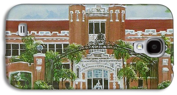 Baseball Stadiums Paintings Galaxy S4 Cases - Florida State University Galaxy S4 Case by Nancy Raborn