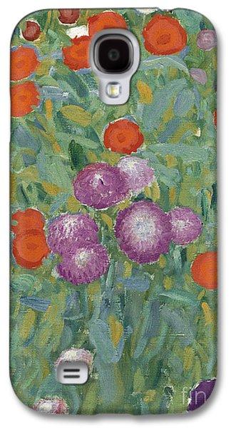 In Bloom Galaxy S4 Cases - Flower Garden Galaxy S4 Case by Gustav Klimt