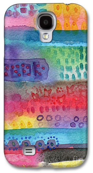Nature Abstracts Mixed Media Galaxy S4 Cases - Flower Garden Galaxy S4 Case by Linda Woods