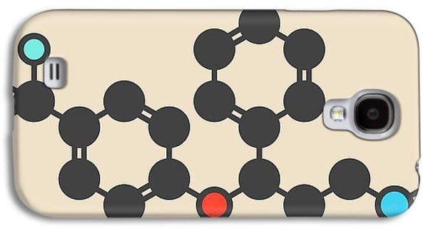 Fluoxetine Antidepressant Drug Molecule Galaxy S4 Case by Molekuul