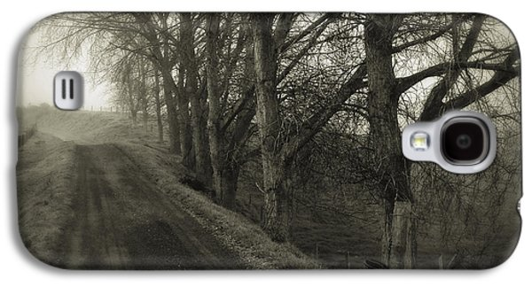 Winter Road Scenes Galaxy S4 Cases - Foggy trail Galaxy S4 Case by Les Cunliffe