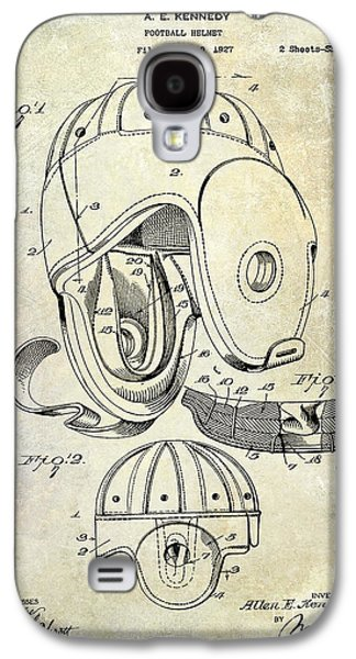 New England Galaxy S4 Cases - Football Helmet Patent Galaxy S4 Case by Jon Neidert