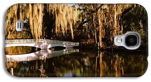 Garden Scene Galaxy S4 Cases - Footbridge Over Swamp, Magnolia Galaxy S4 Case by Panoramic Images