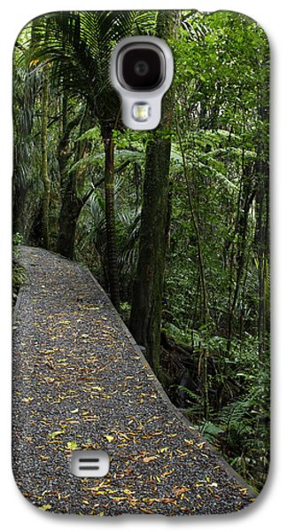 Pathway Galaxy S4 Cases - Forest walk Galaxy S4 Case by Les Cunliffe