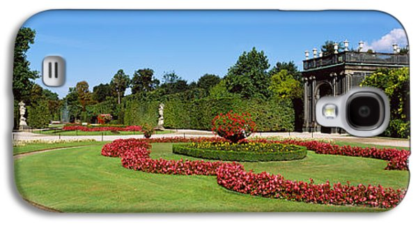 Garden Scene Galaxy S4 Cases - Formal Garden In Front Of A Building Galaxy S4 Case by Panoramic Images