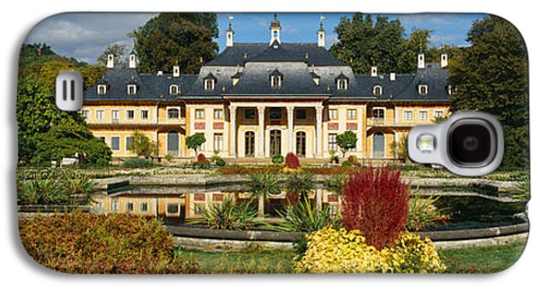 Garden Scene Galaxy S4 Cases - Formal Garden In Front Of A Castle Galaxy S4 Case by Panoramic Images