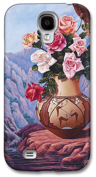 Pottery Paintings Galaxy S4 Cases - Fragrance and Dew Galaxy S4 Case by Ricardo Chavez-Mendez