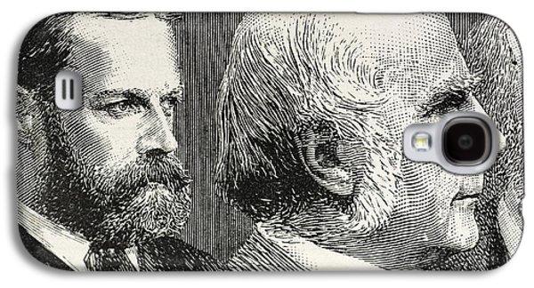 Francis Photographs Galaxy S4 Cases - Francis Darwin And Francis Galton Galaxy S4 Case by Paul D. Stewart