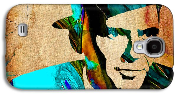 Pop Mixed Media Galaxy S4 Cases - Frank Sinatra Paintings Galaxy S4 Case by Marvin Blaine