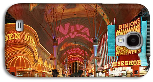 Brightly Galaxy S4 Cases - Fremont Street Experience Las Vegas Nv Galaxy S4 Case by Panoramic Images
