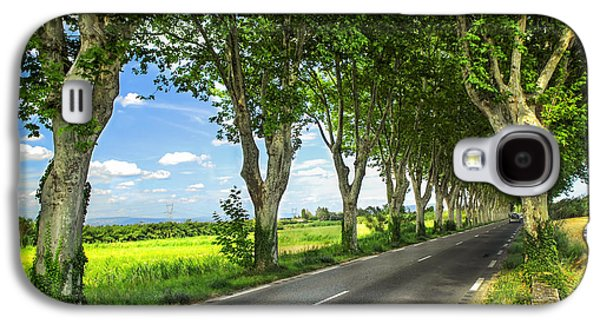 Old Country Roads Photographs Galaxy S4 Cases - French country road Galaxy S4 Case by Elena Elisseeva