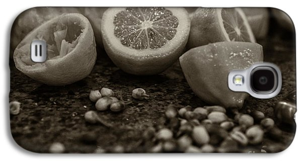 Pairings Galaxy S4 Cases - Fresh Cut Lemons with blossoms Galaxy S4 Case by Iris Richardson