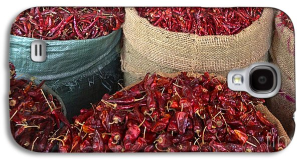 Not In Use Galaxy S4 Cases - Fresh Dried Chilli on Display for Sale Zay Cho Street Market 27th Street Mandalay Burma Galaxy S4 Case by Ralph A  Ledergerber-Photography