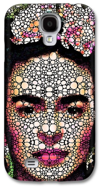 Famous Artist Galaxy S4 Cases - Frida Kahlo Art - Define Beauty Galaxy S4 Case by Sharon Cummings
