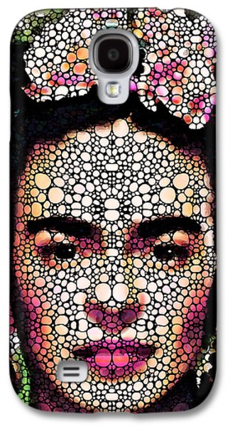 Pebbles Galaxy S4 Cases - Frida Kahlo Art - Define Beauty Galaxy S4 Case by Sharon Cummings