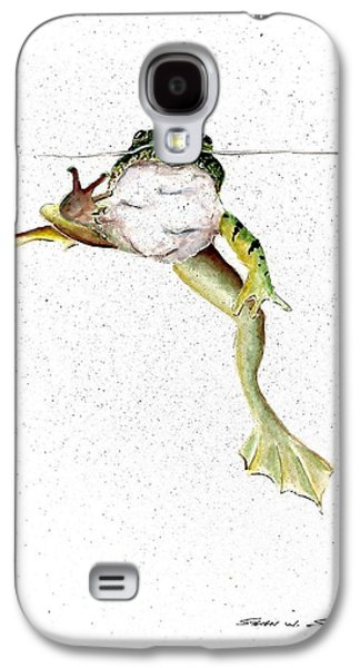 Frog On Waterline Galaxy S4 Case by Steven Schultz