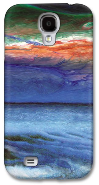 Surreal Landscape Drawings Galaxy S4 Cases - Frosty Wind Galaxy S4 Case by Jeanette Charlebois