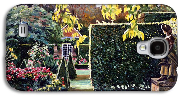 Pathway Paintings Galaxy S4 Cases - Garden Statue Galaxy S4 Case by David Lloyd Glover