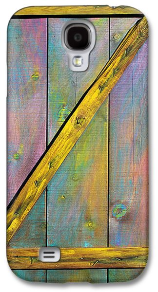 Colorful Abstract Sculptures Galaxy S4 Cases - Gateway to Z Universe Galaxy S4 Case by Asha Carolyn Young