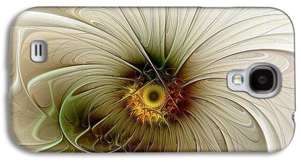 Floral Digital Art Digital Art Galaxy S4 Cases - Gentle Movement Galaxy S4 Case by Amanda Moore
