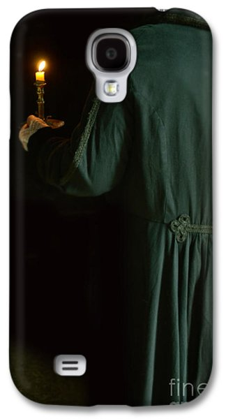 Candle Stand Galaxy S4 Cases - Gentleman in 18th Century Clothing with a Candle Galaxy S4 Case by Jill Battaglia