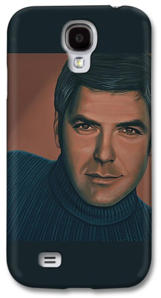 George Clooney Painting Galaxy S4 Case by Paul Meijering