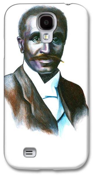African-american Galaxy S4 Cases - George Washington Carver Galaxy S4 Case by Gwen Shockey