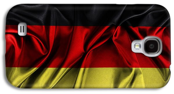 Wavy Galaxy S4 Cases - German flag Galaxy S4 Case by Les Cunliffe