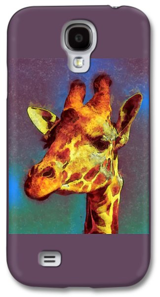 Giraffe Digital Galaxy S4 Cases - Giraffe Abstract Galaxy S4 Case by Ernie Echols