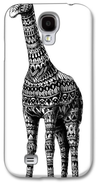 Native Drawings Galaxy S4 Cases - Ornate Giraffe Galaxy S4 Case by BioWorkZ